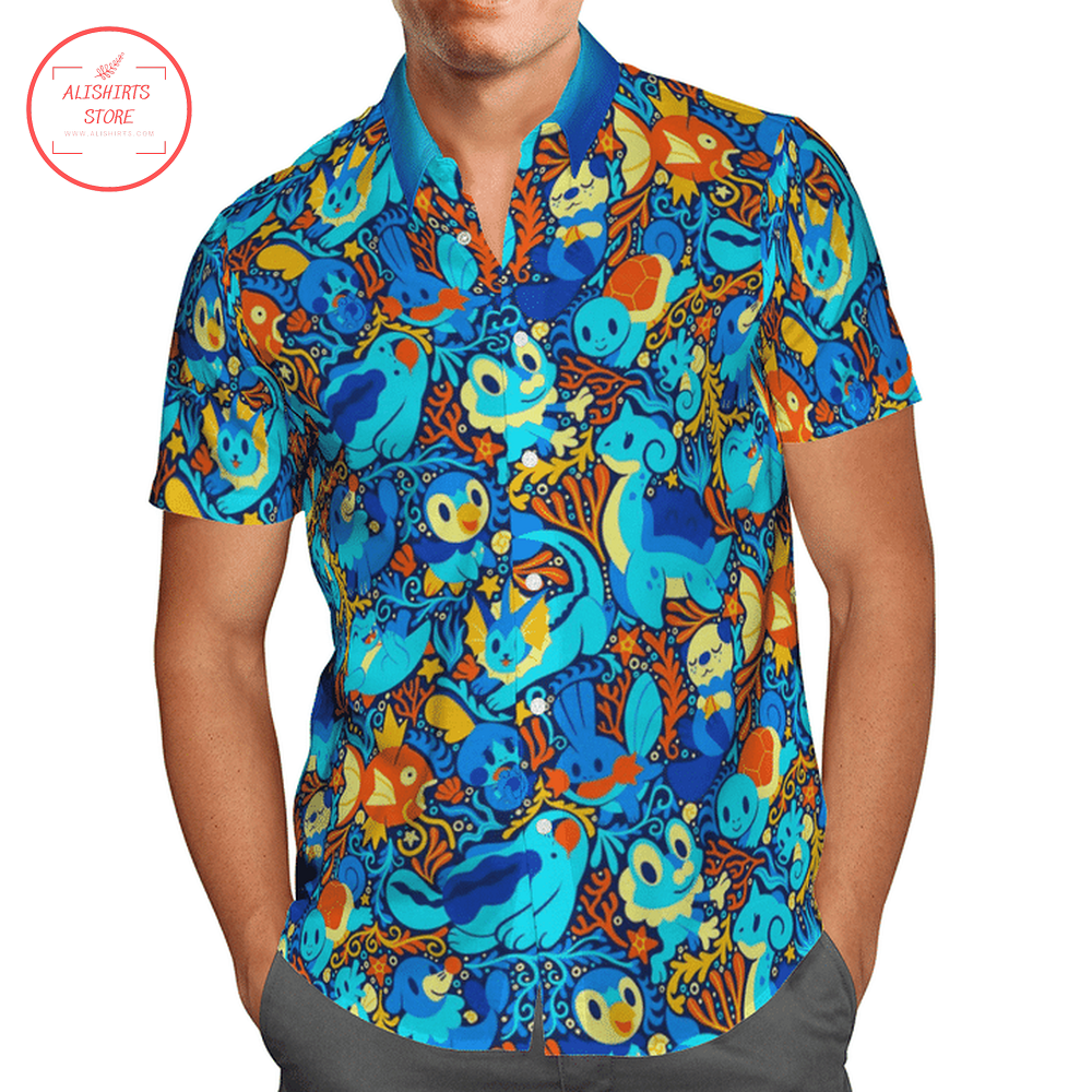 Pokemon Blue Color HawaiiShirt
