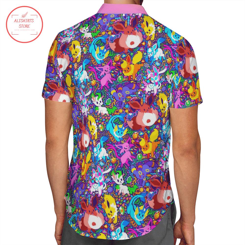 Pokemon Eevee Hawaii Shirt