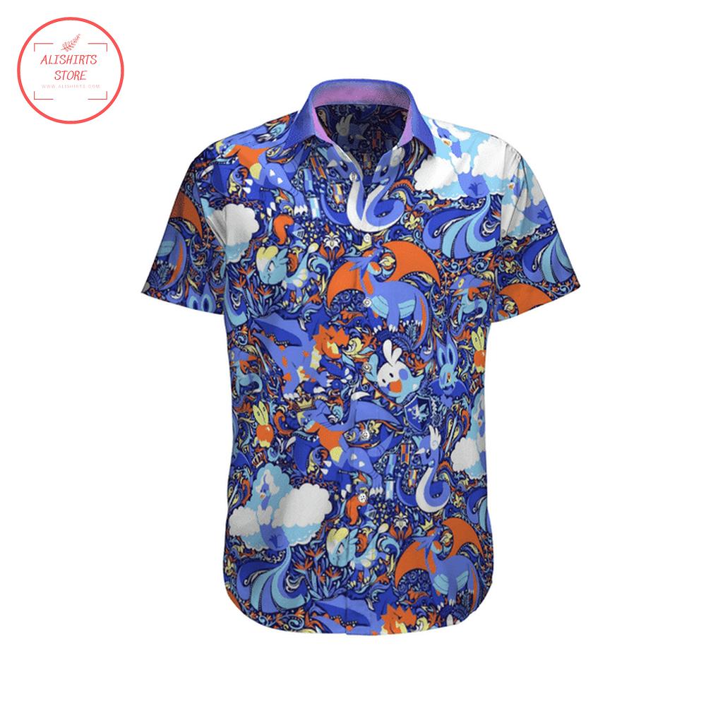 Pokemon Purple Color HawaiiShirt