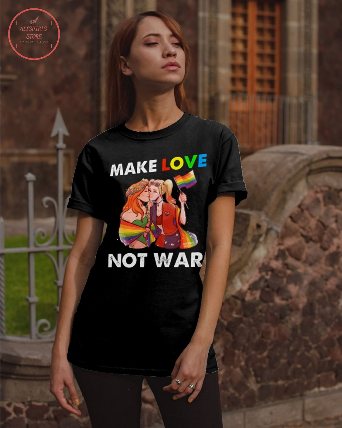 Pride Parade 2021 RB Make Love Not War Shirt
