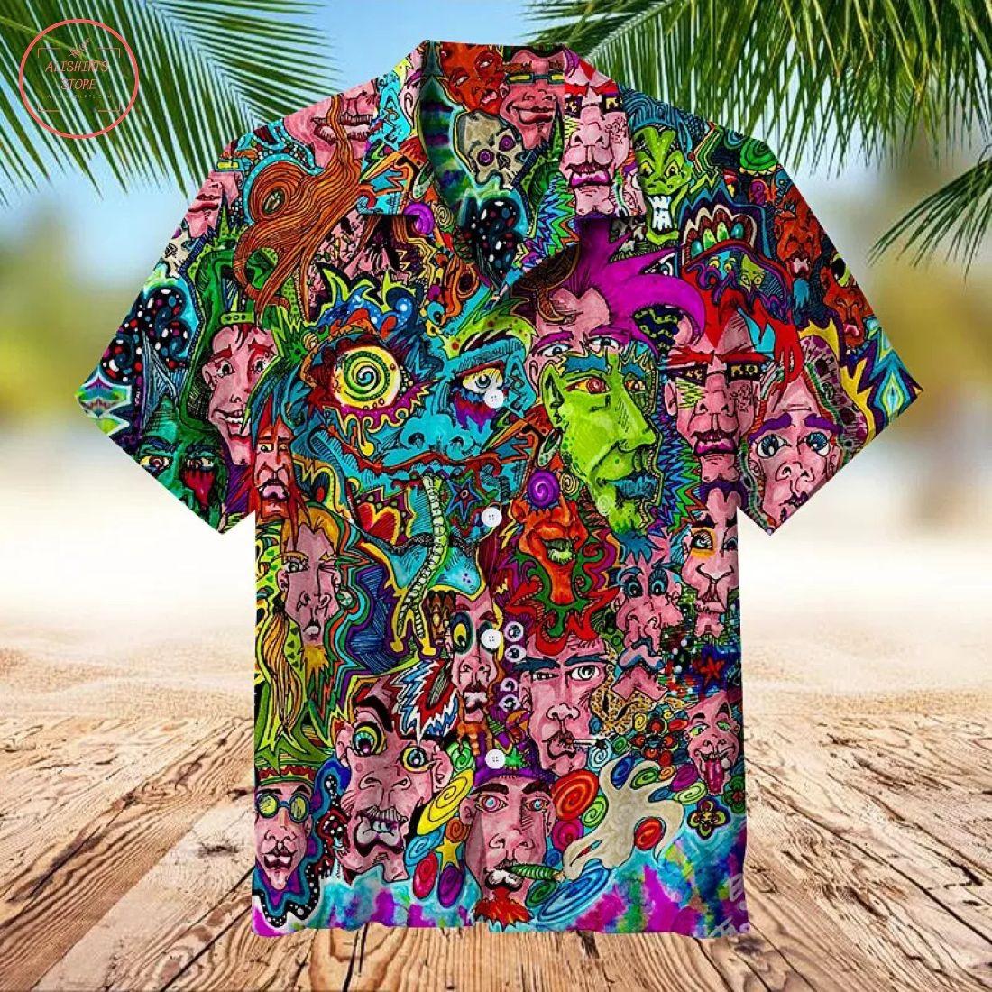 Psychedelic Tye Dye Hawaiian Shirt
