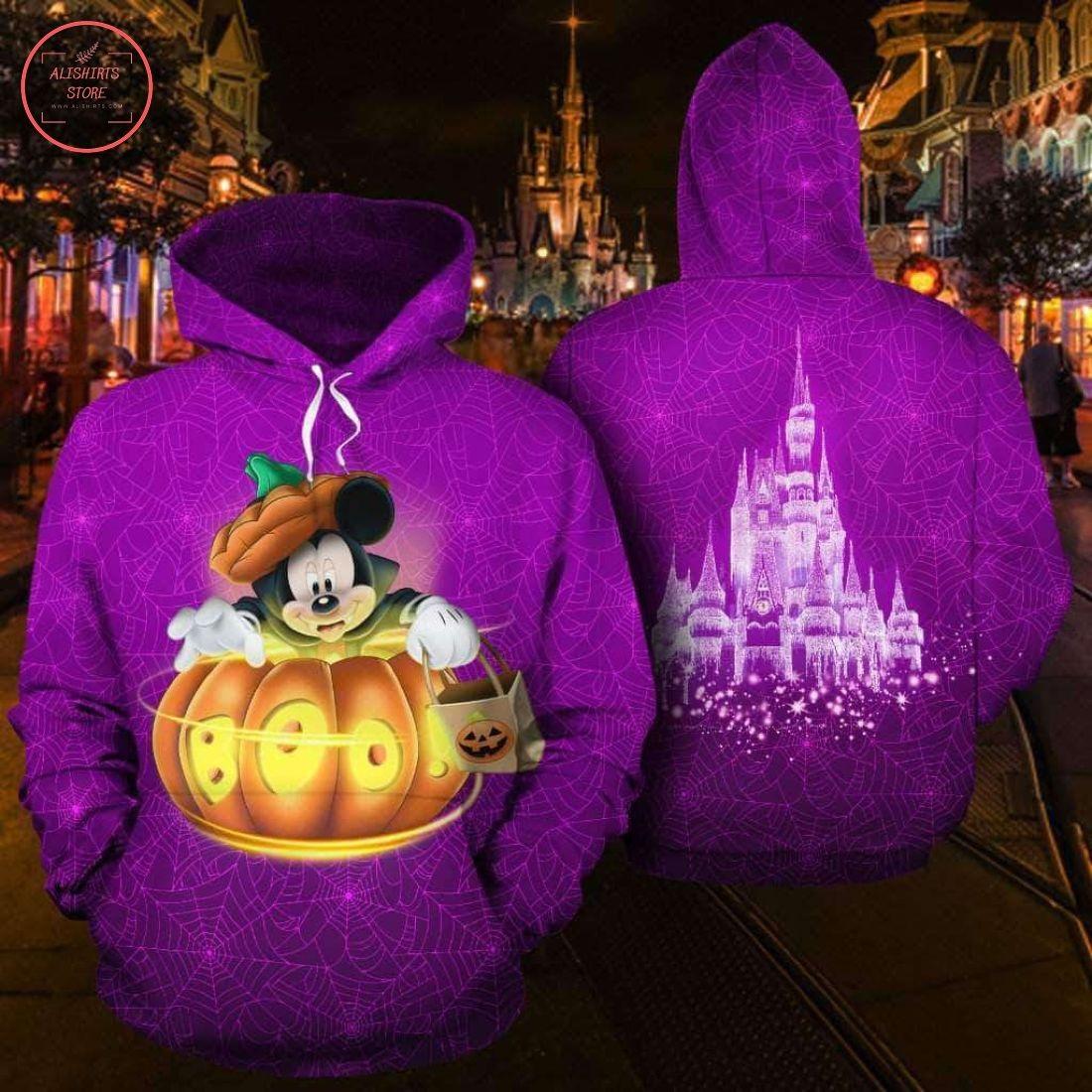 Pumpkin Boo Mickey Cosplay All Over Printed Hoodie