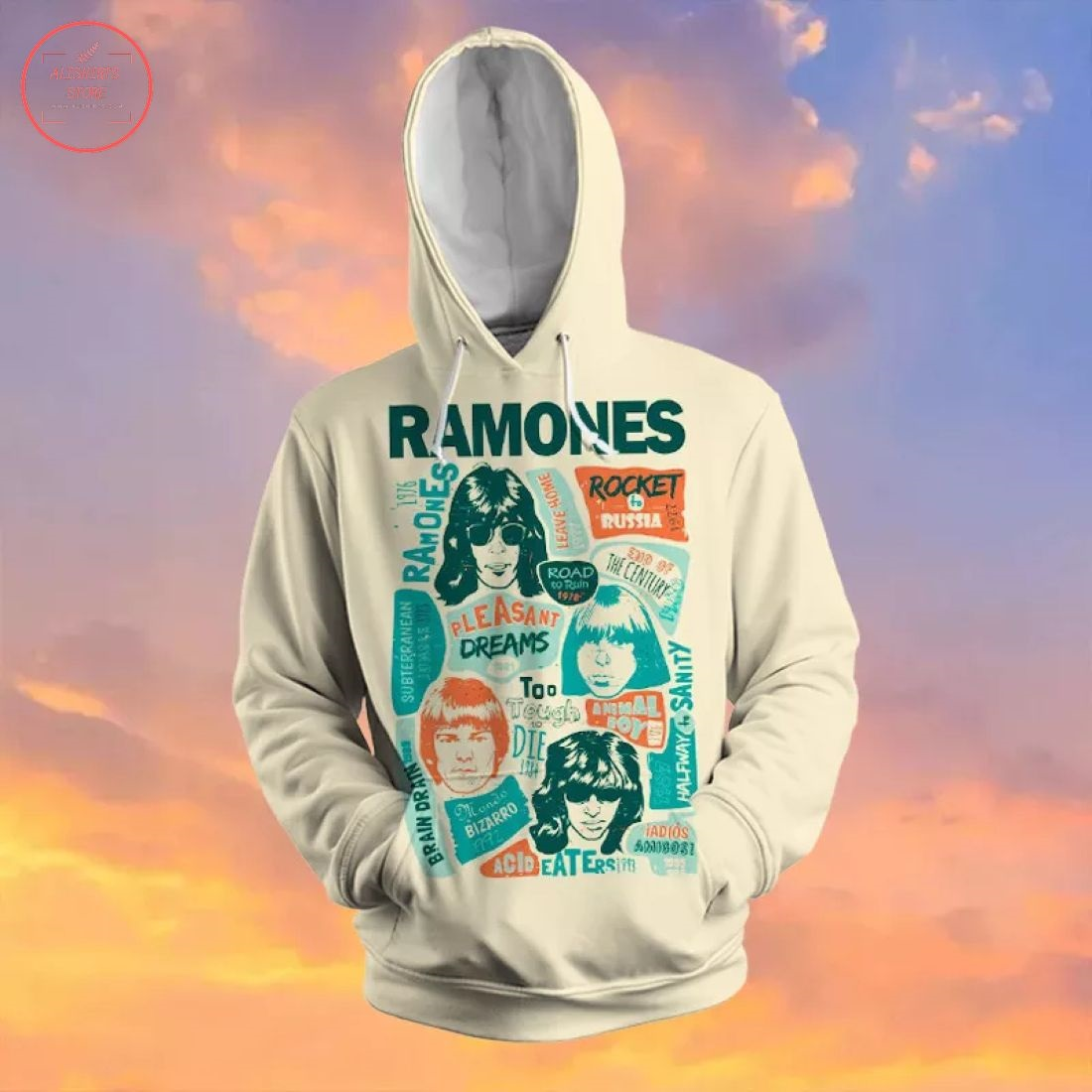 Ramones Creative Collage 3D Hoodie