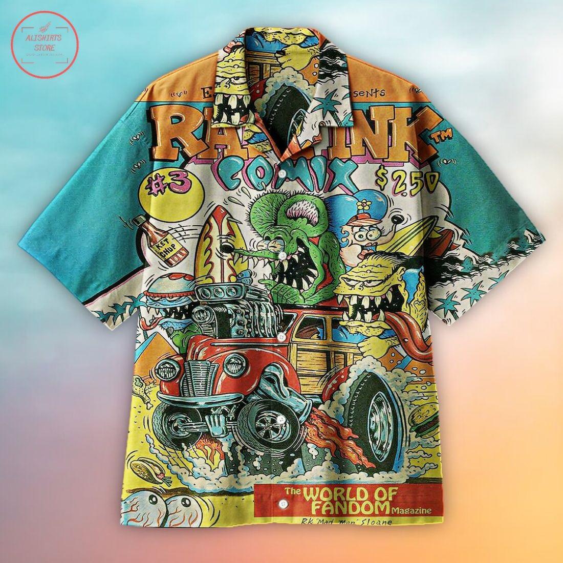 Rat Fink Hawaiian Shirt