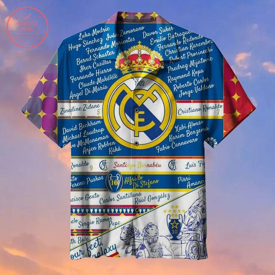 Real Madrid Football Club Fans Commemorative Hawaiian shirt
