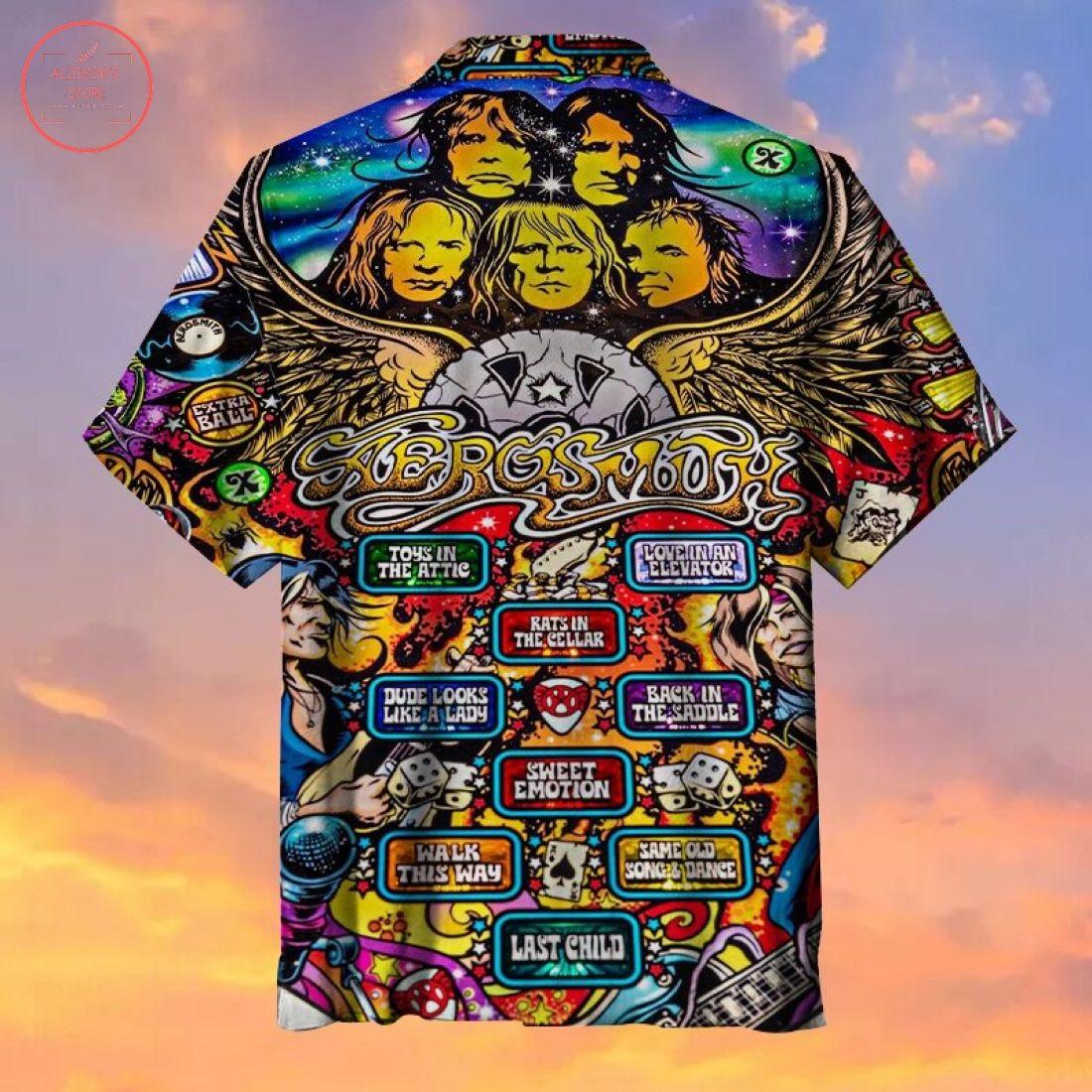 Rock Band Pinball Game Hawaiian shirt