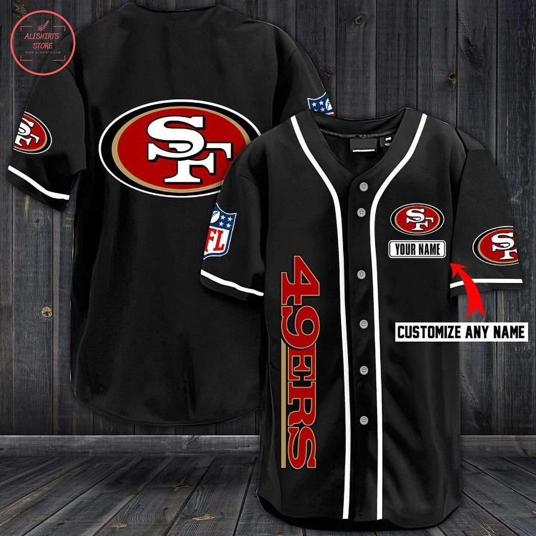 San Francisco 49ers Personalized Custom Baseball Jersey