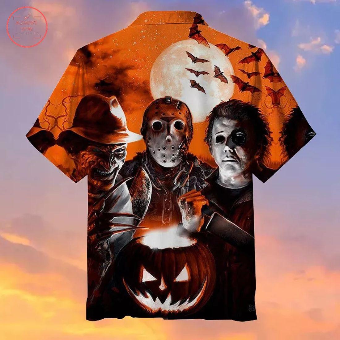 Scary Halloween Hawaiian Shirt