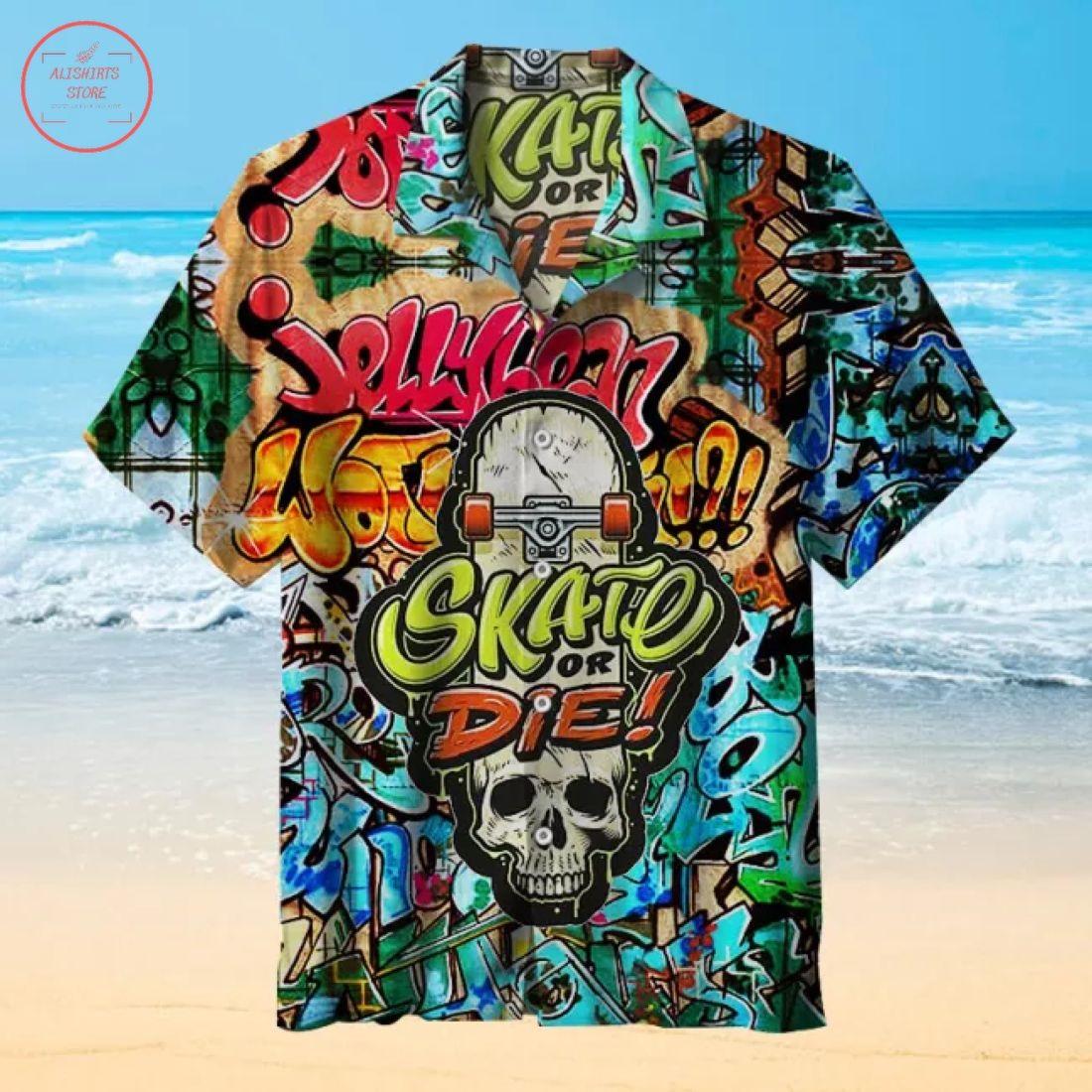 Skate or Die Hawaiian Shirt