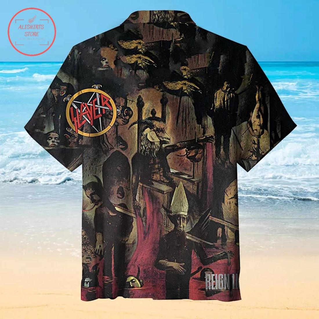 Slayer Angel of Death Hawaiian Shirt