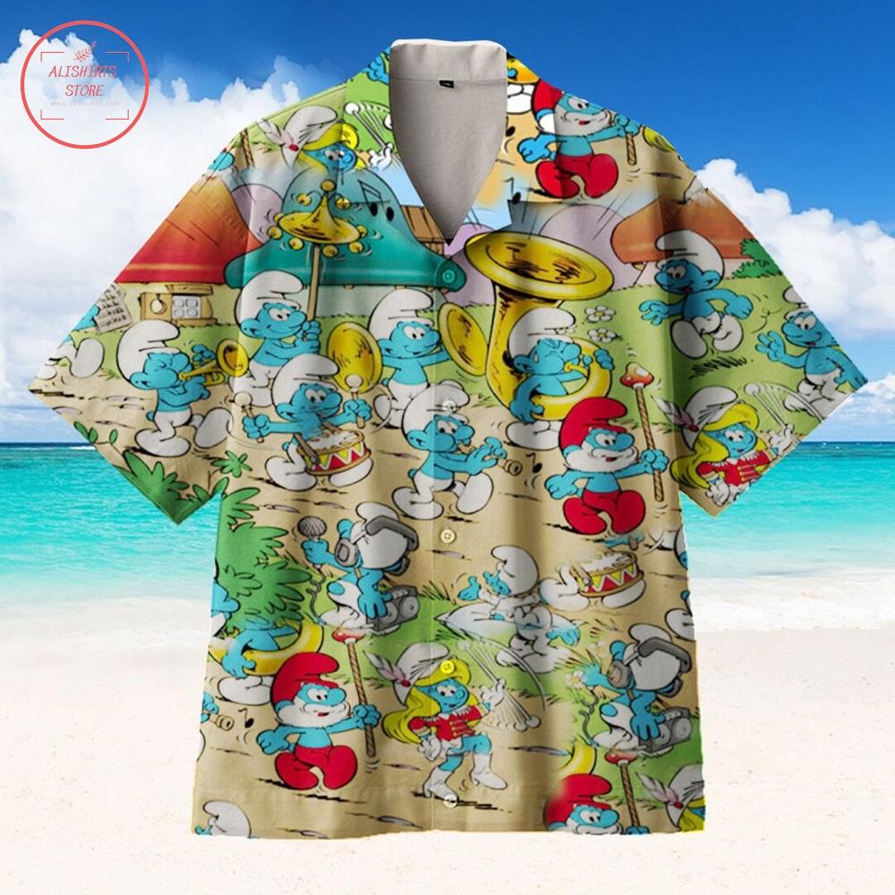 Smurf Baby Hawaiian Shirt