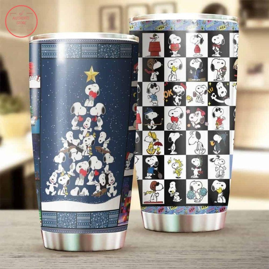Snoopy Happy Christmas Tumbler