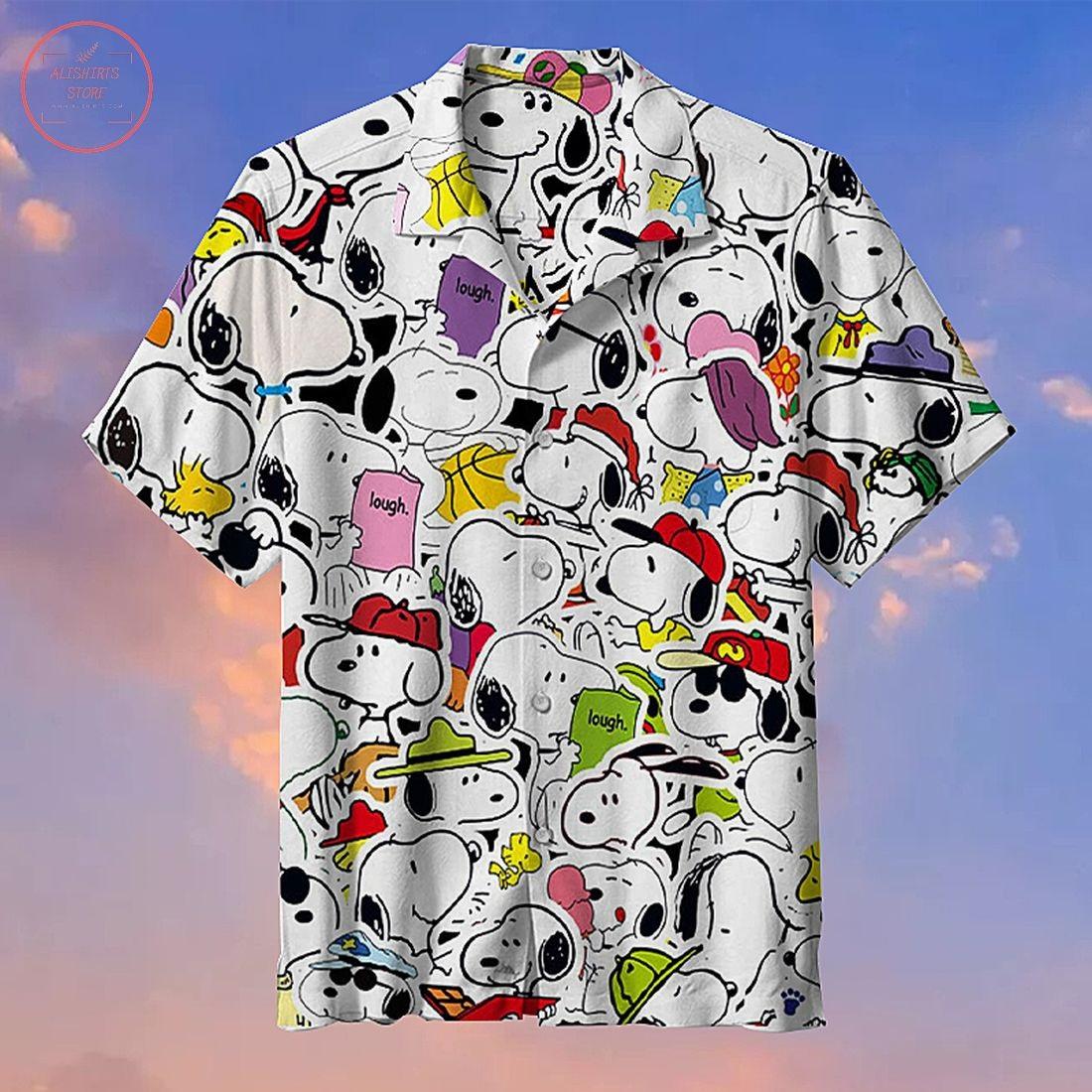 Snoopy Lough Commemorative Hawaiian Shirt