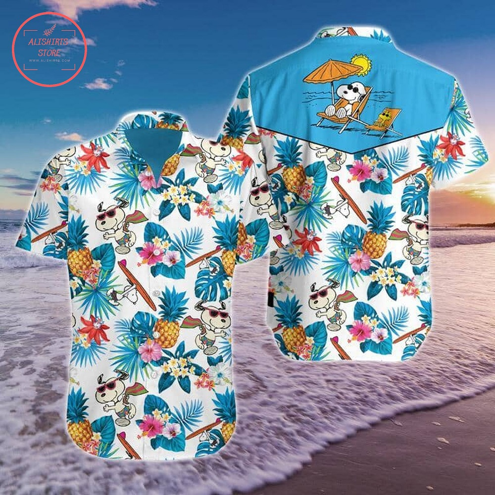 Snoopy Movie Hawaiian Shirt Summer Button Up