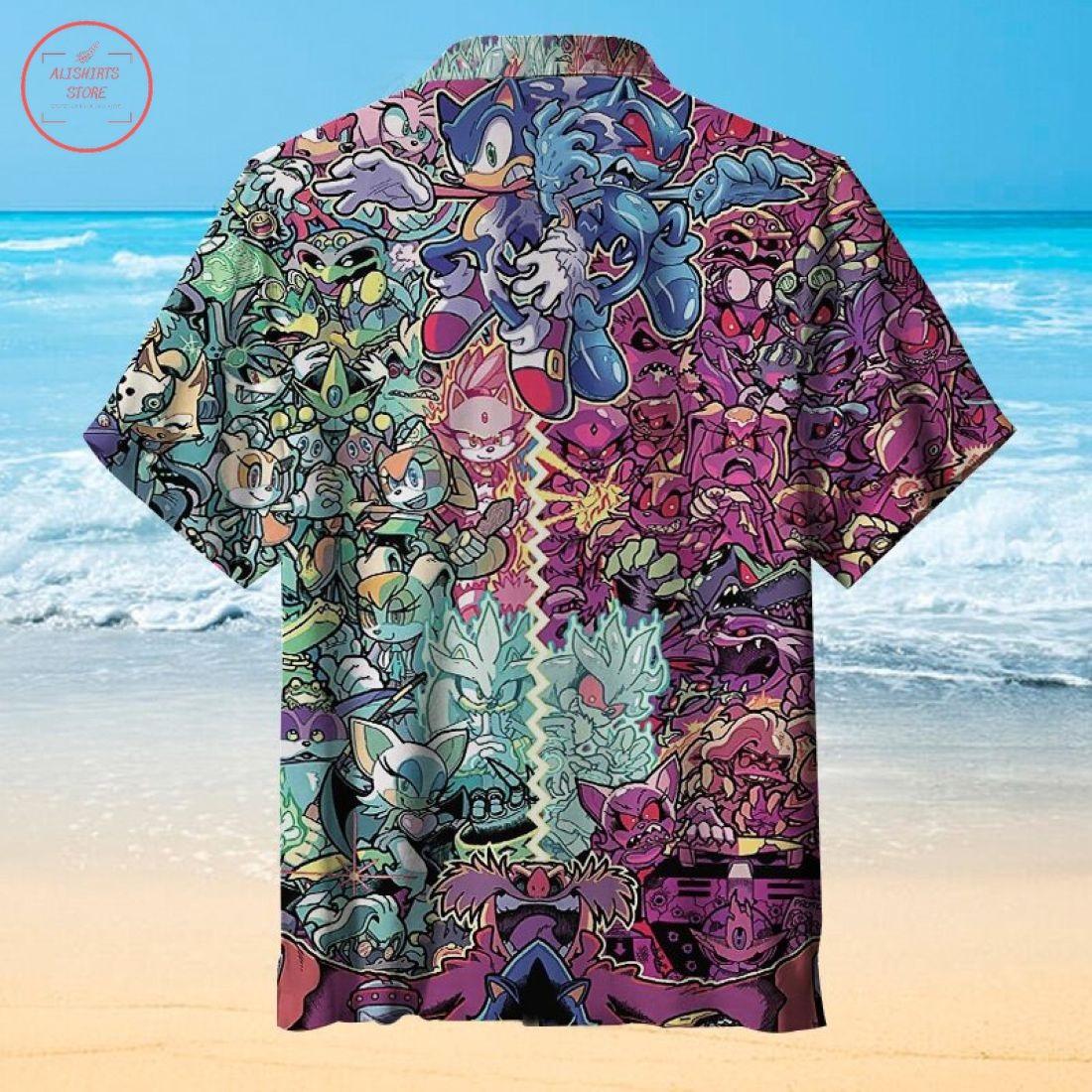 Sonic the Hedgehog Hawaiian shirt