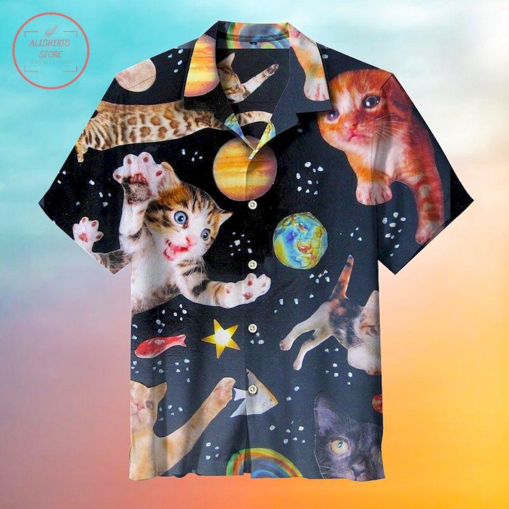 Space cat Hawaiian Shirt