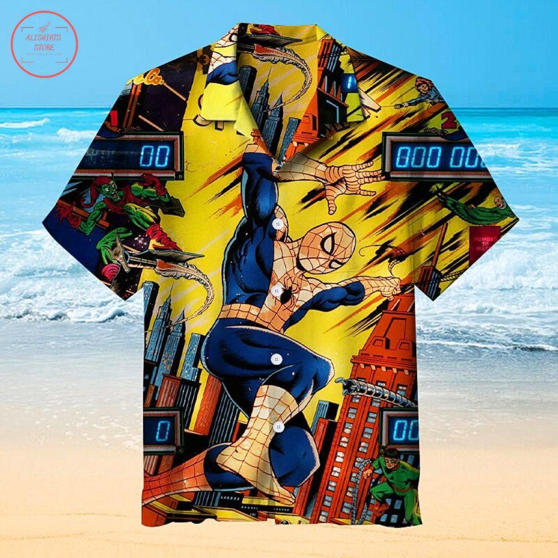 Spiderman Pinball Universal Hawaiian Shirt
