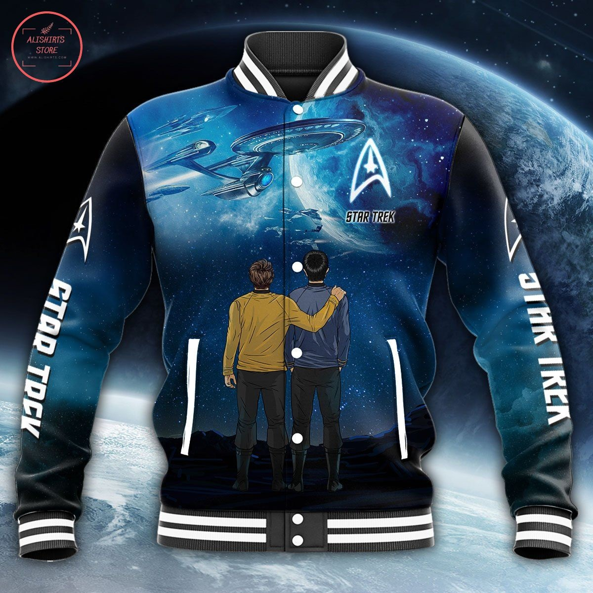 Star Trek All Over Print Letterman Jacket
