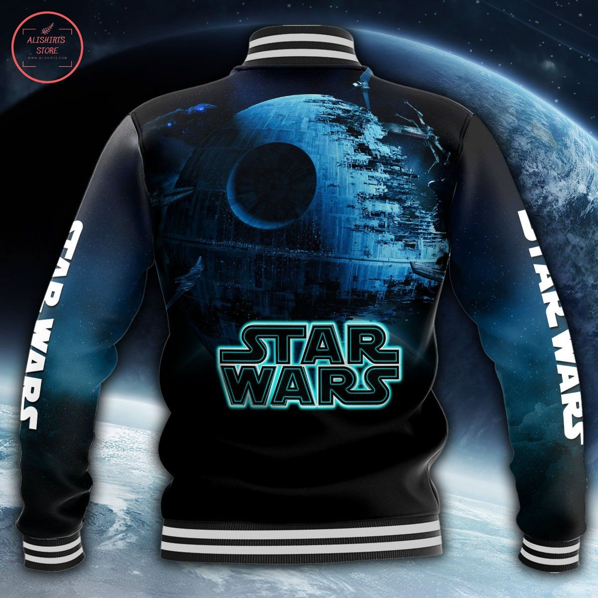 Star Wars All Over Print Letterman Jacket