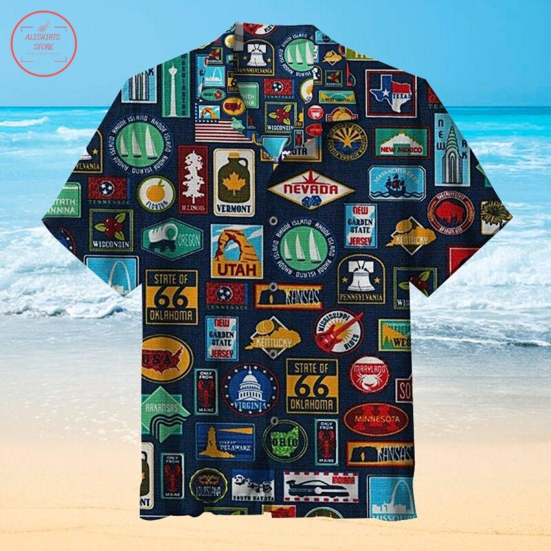 State Signs Hawaiian shirt