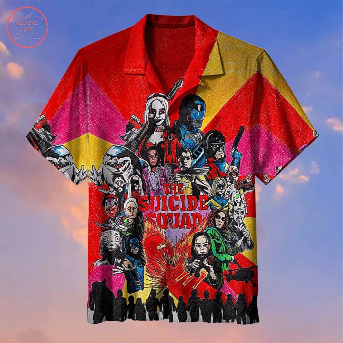 Suicide squad characters Hawaiian Shirt