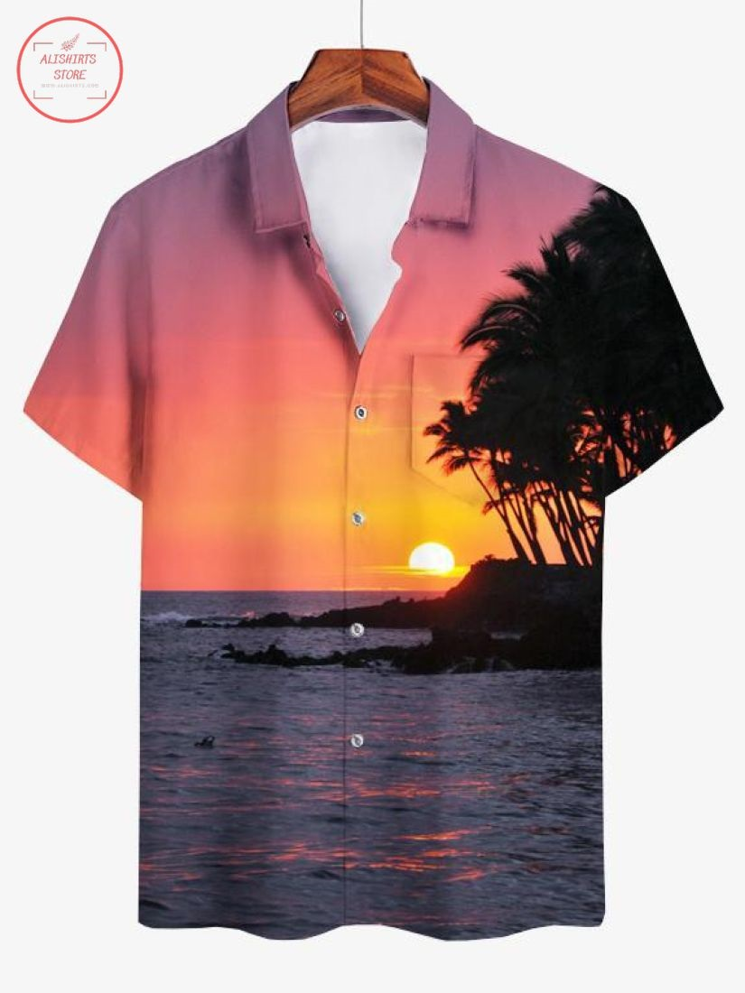 Sunset By The Ocean Hawaiian Shirt