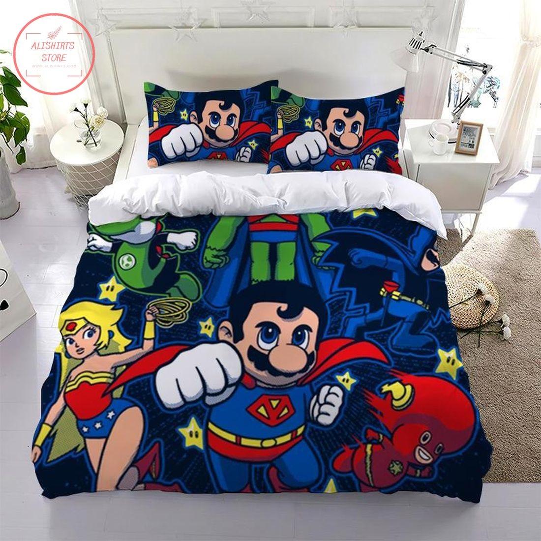 Super Mario All Superman Bedding Set