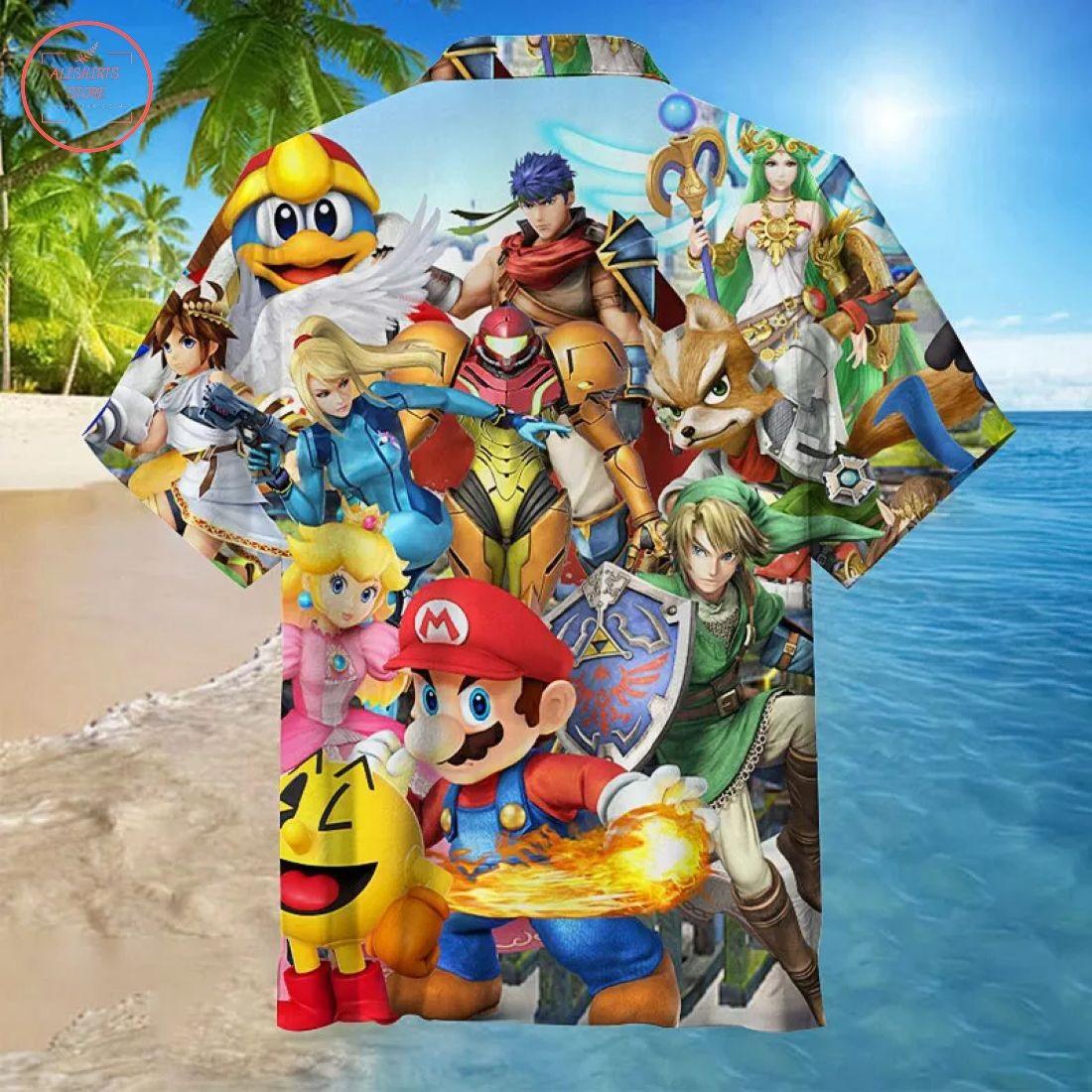 Super Mario Bros Hawaiian Shirt