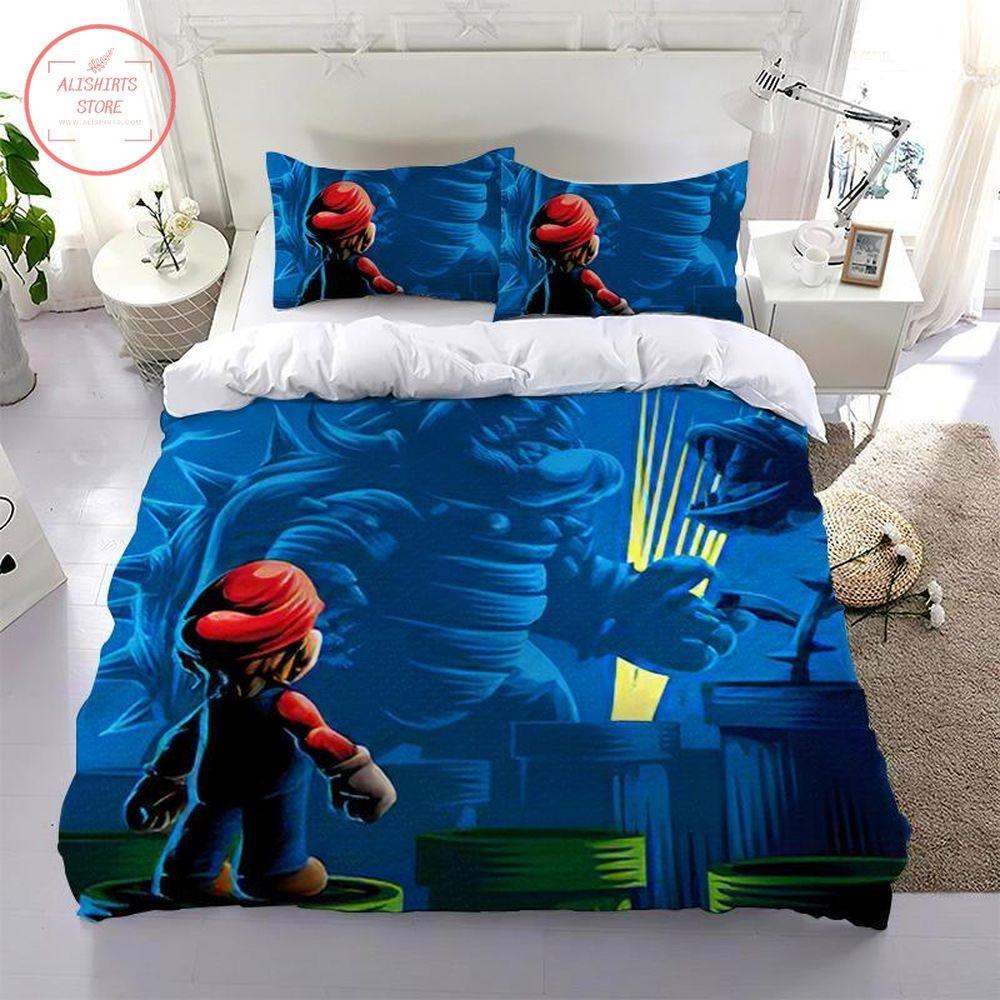 Super Mario Face Bowser Bedding Set