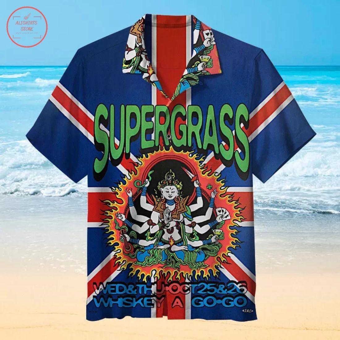 Supergrass Concert Poster Hawaiian Shirt
