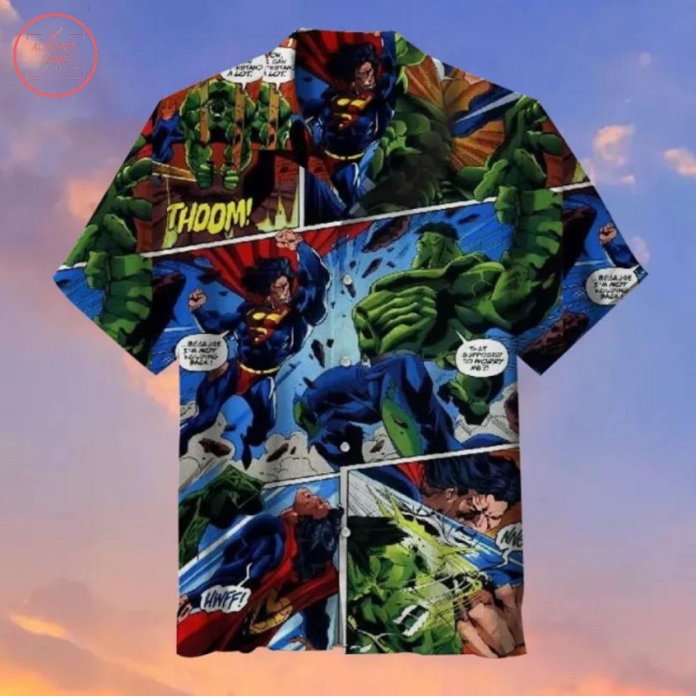 Superman vs Hulk Hawaiian Shirt