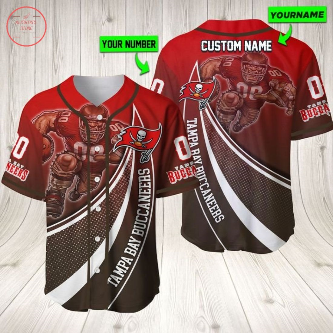 Tampa Bay Buccaneers Personalized Baseball Jersey
