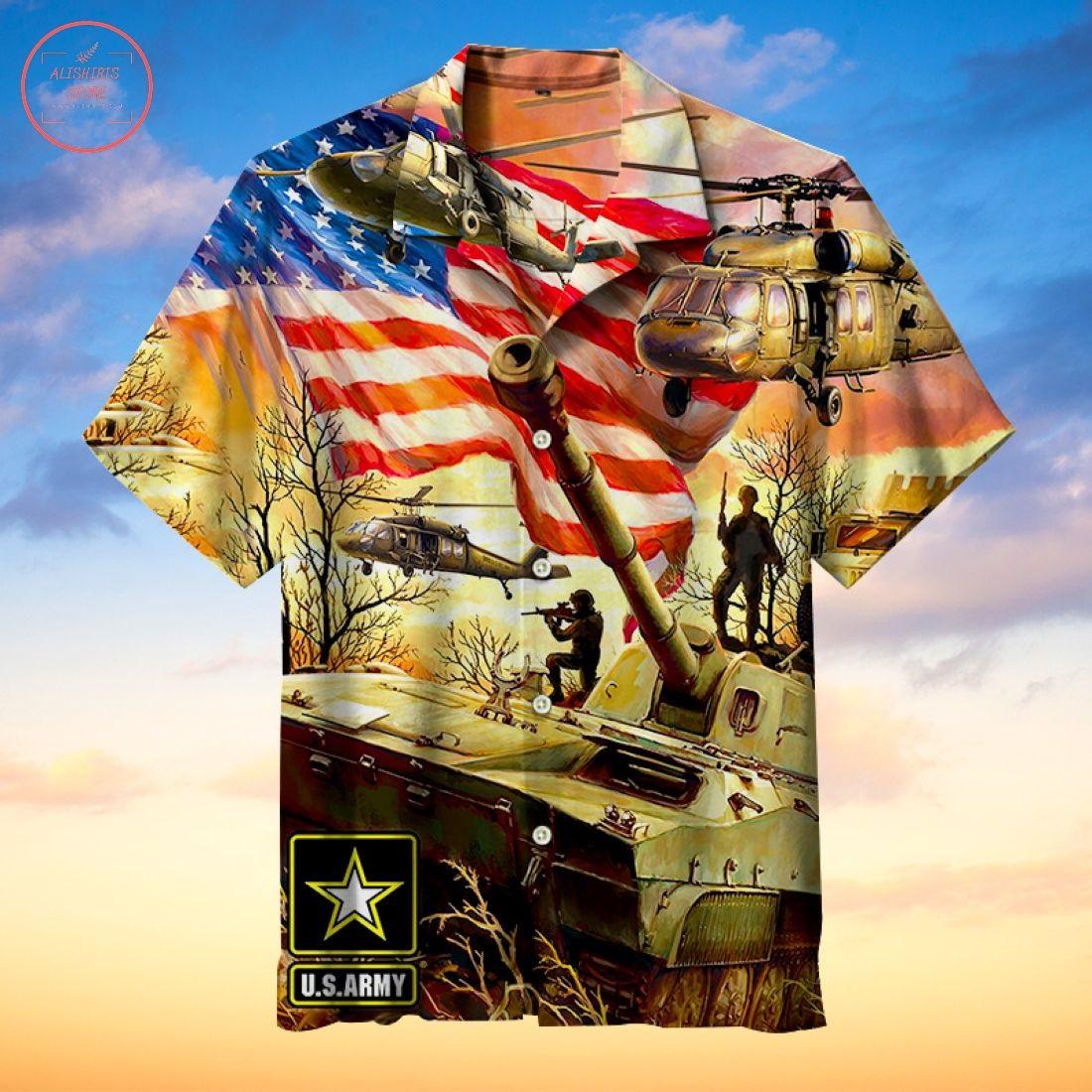 Tank army Hawaiian shirt