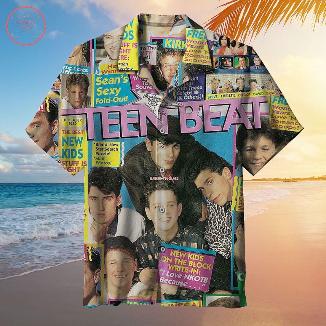 Teen Beat Magazine Hawaiian Shirt