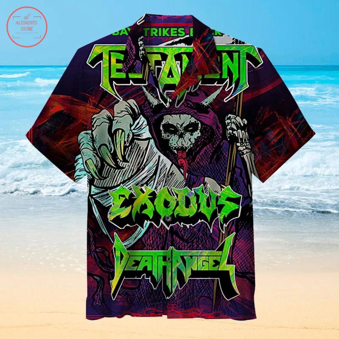 Testament Exodus Death Angel Hawaiian Shirt