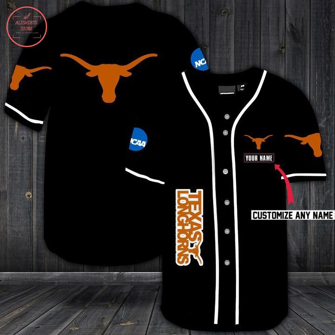 Texas Longhorns Personalized Baseball Jersey