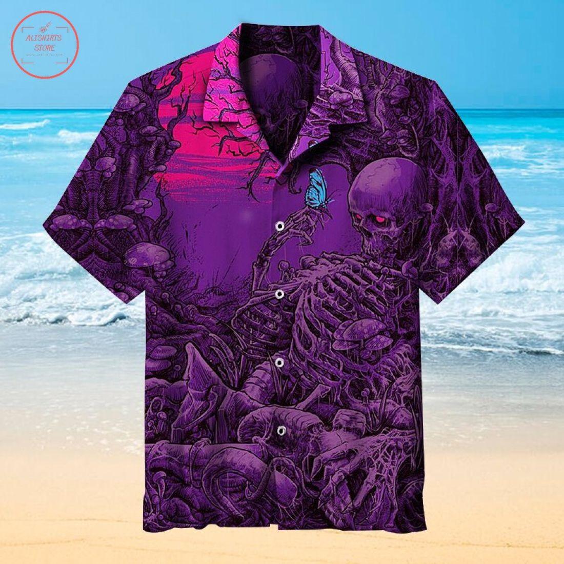 The Awakening Blue Butterfly Hawaiian shirt