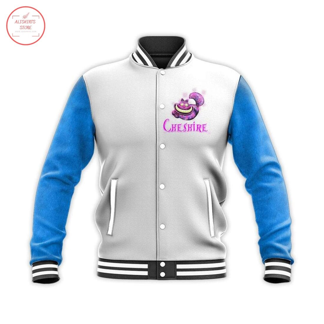 The Cheshire Mad Cat Letterman Jacket