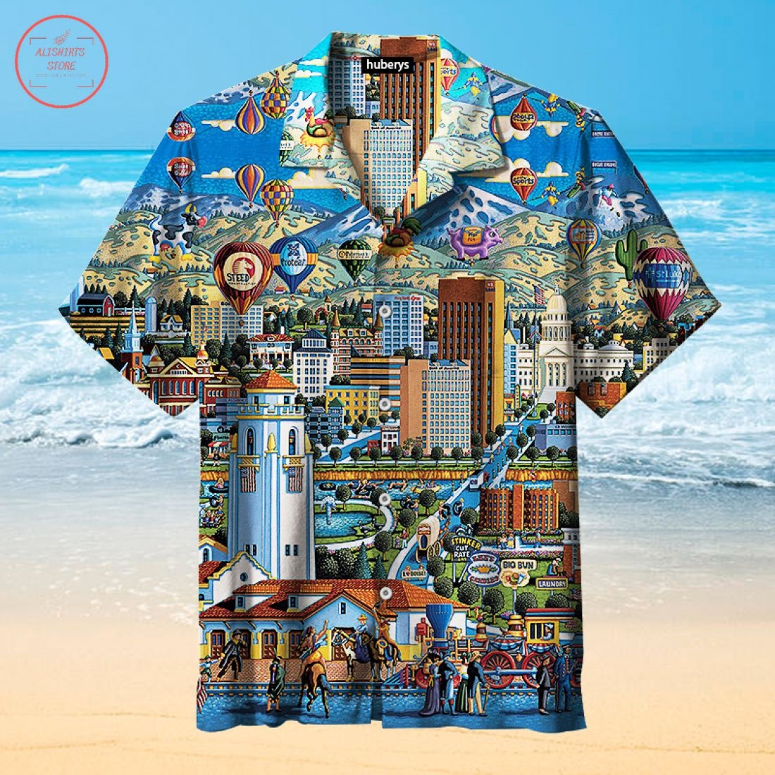 The City of Trees Boise Hawaiian Shirt