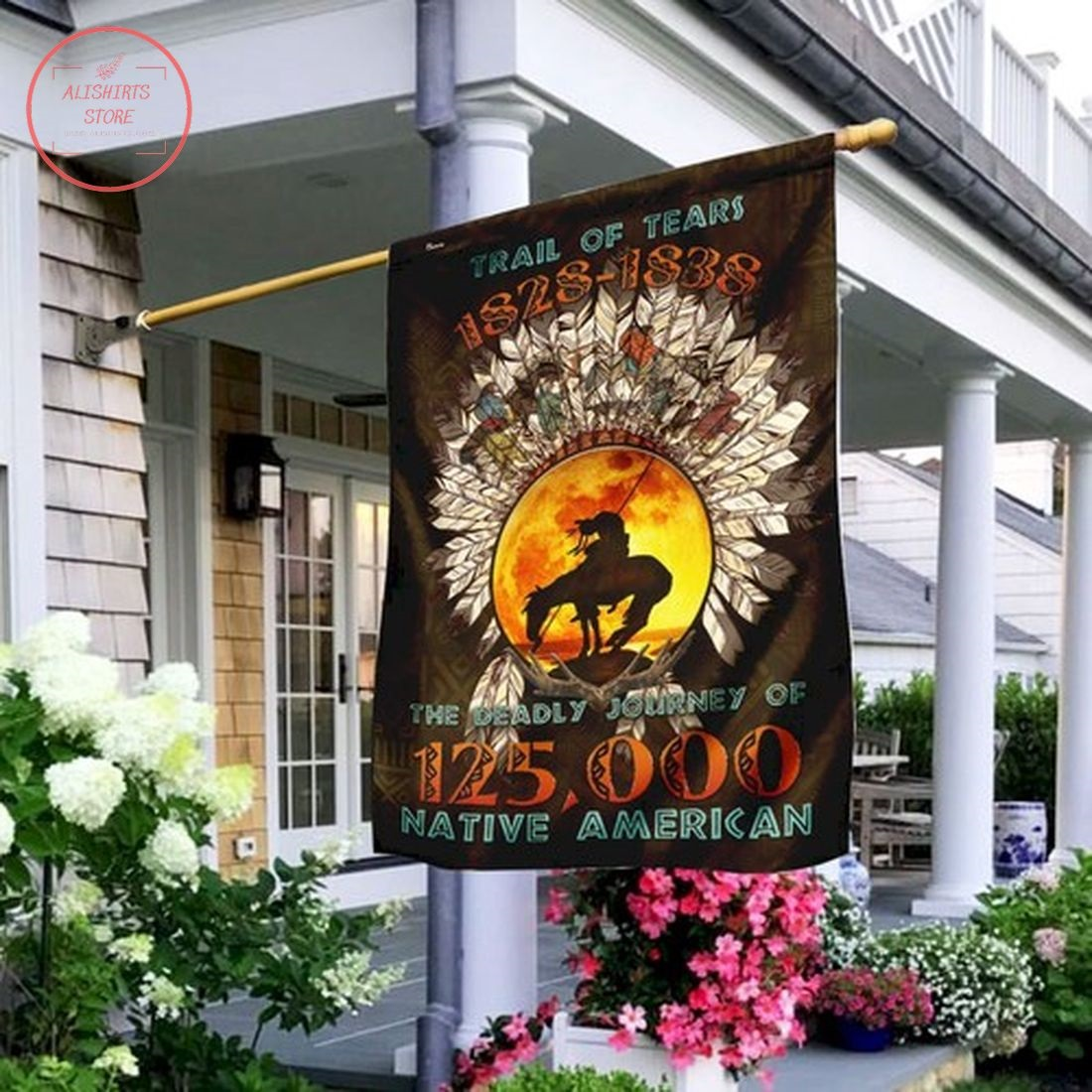 The Trail Of Tears Native American Garden Flag