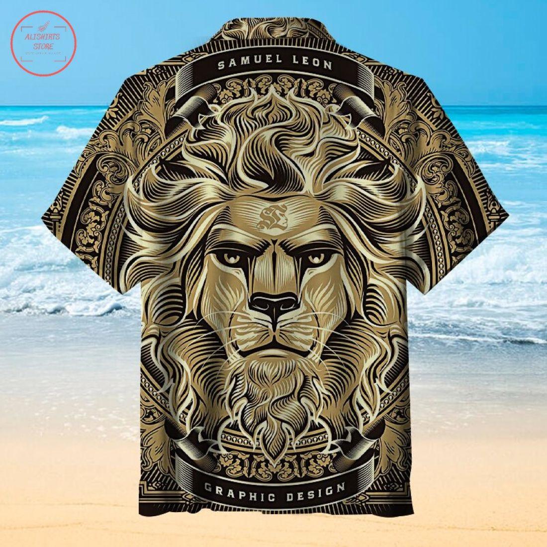 The majestic lion Hawaiian Shirt