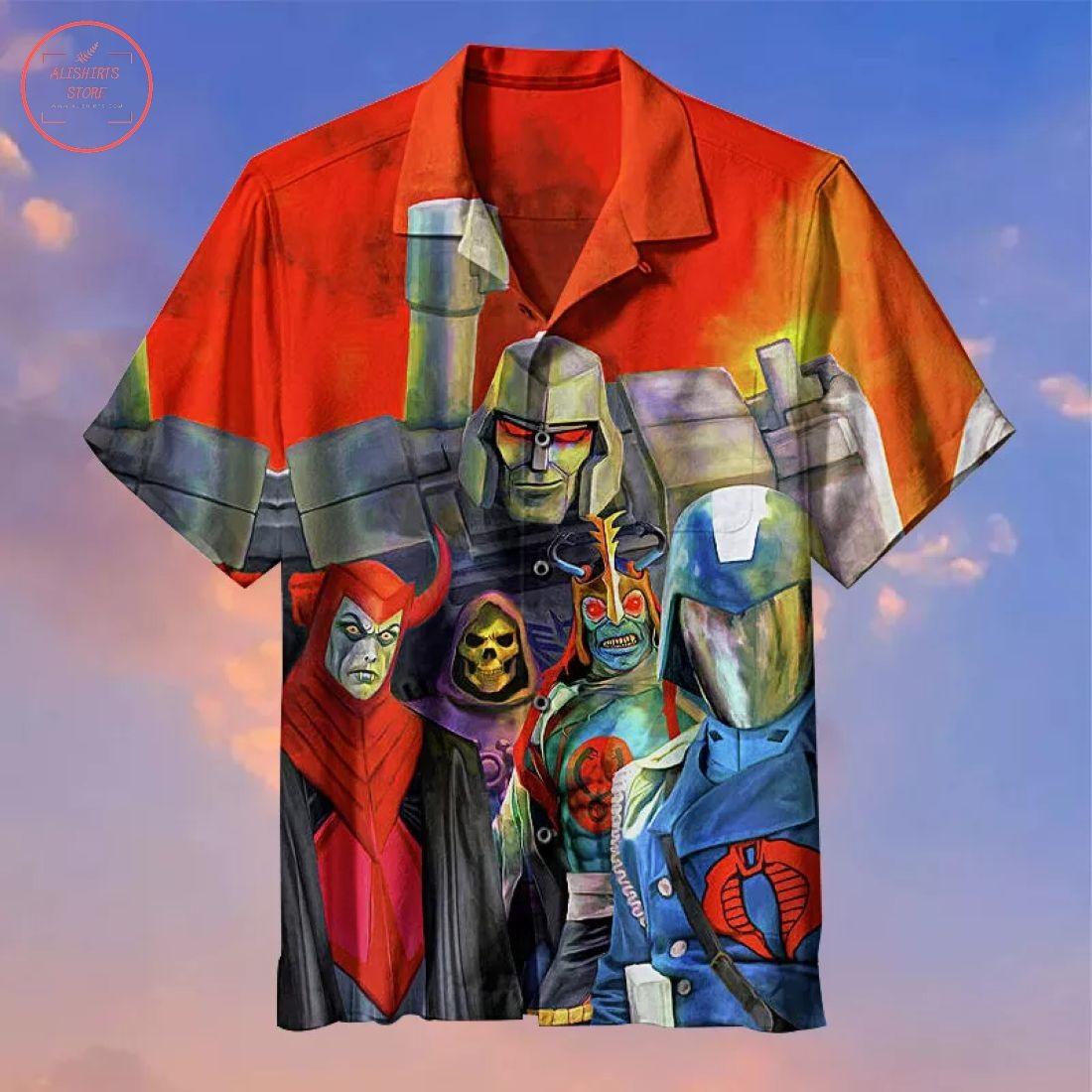 The villains in the 80s Hawaiian Shirt