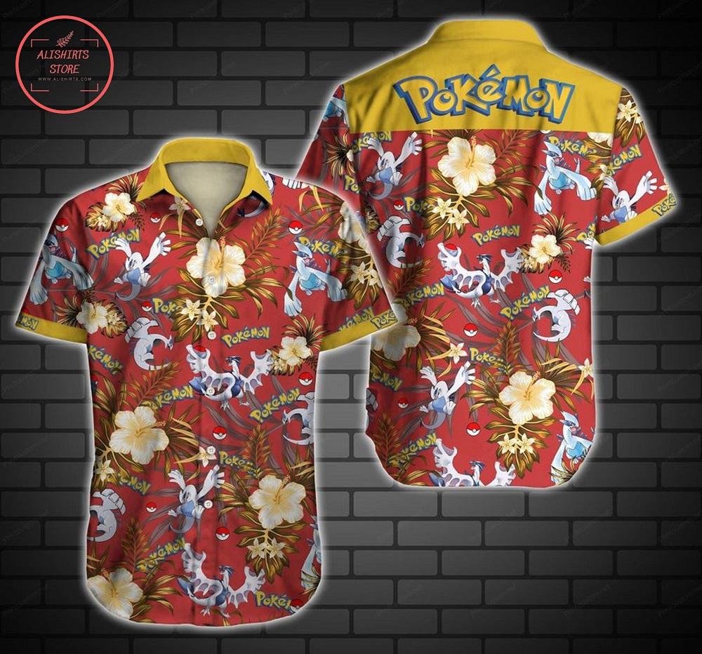 Tlmus Lugia Pokemon Short Sleeve Hawaii Shirt