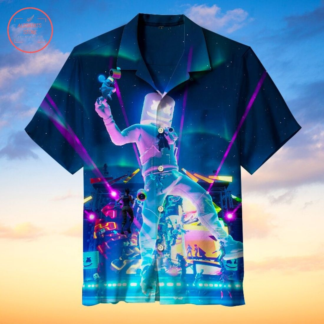 Travis Scott Fortnite concert Hawaiian Shirt