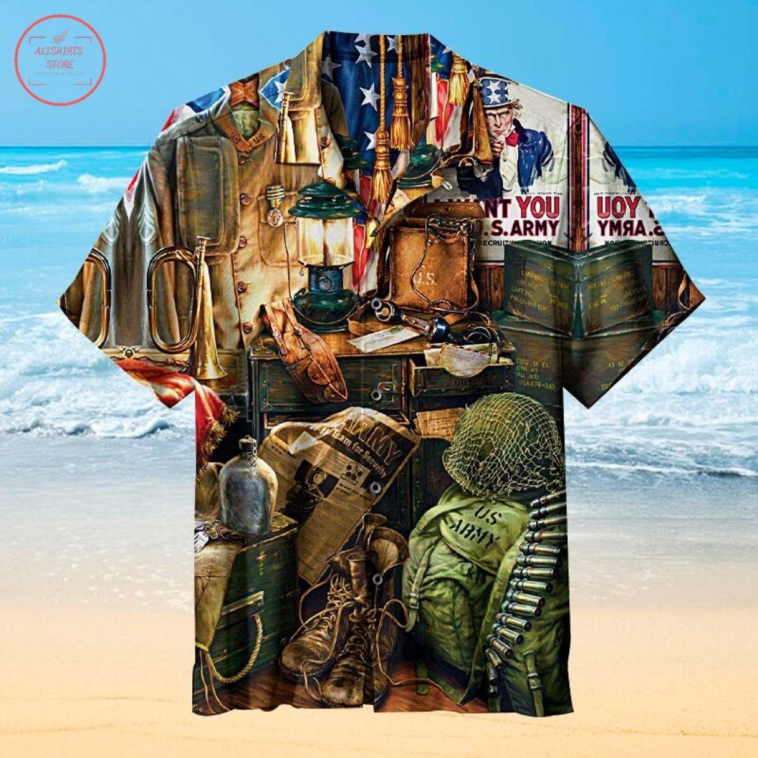 U.S. army Hawaiian Shirt