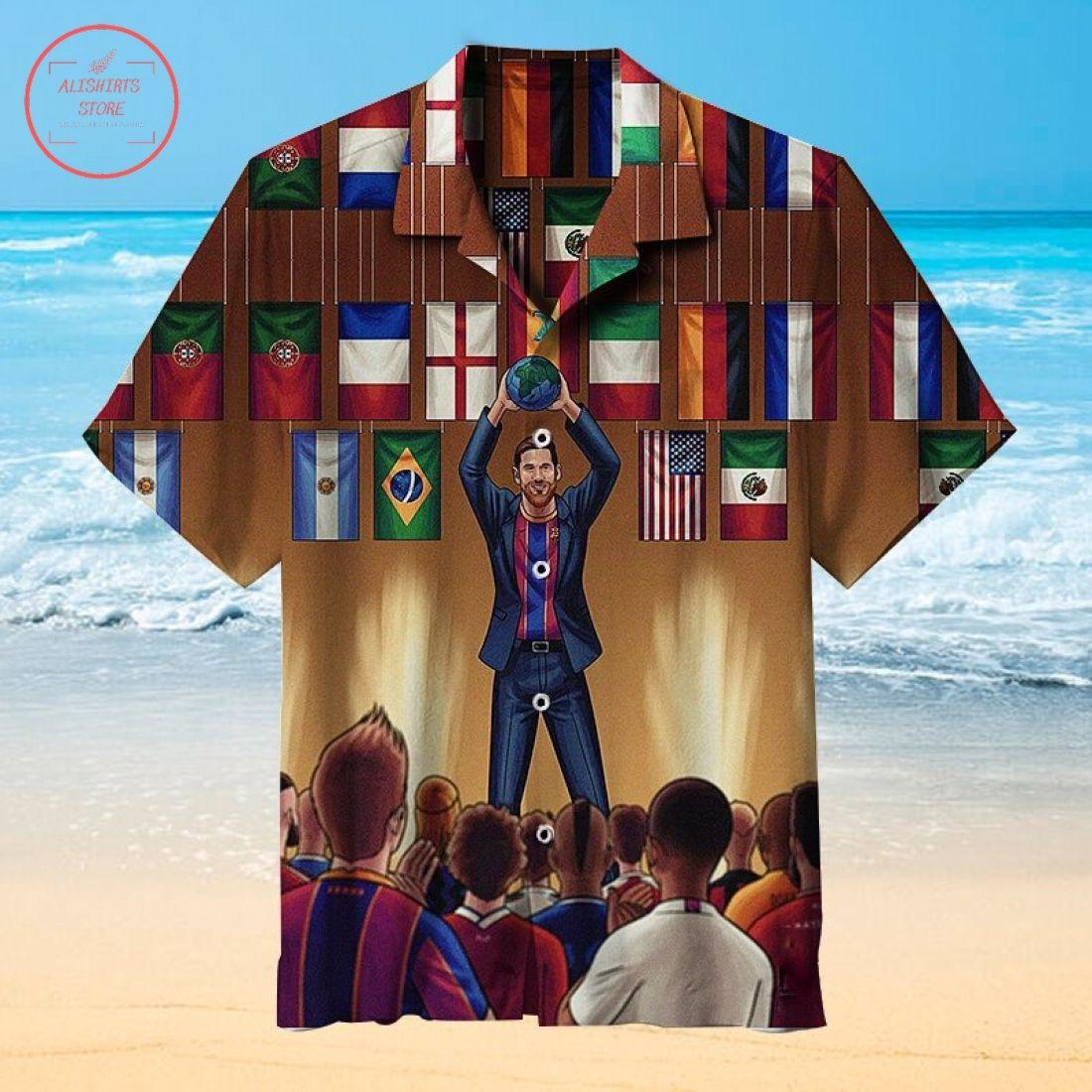 Lionel Messi The Goat Hawaiian Shirt