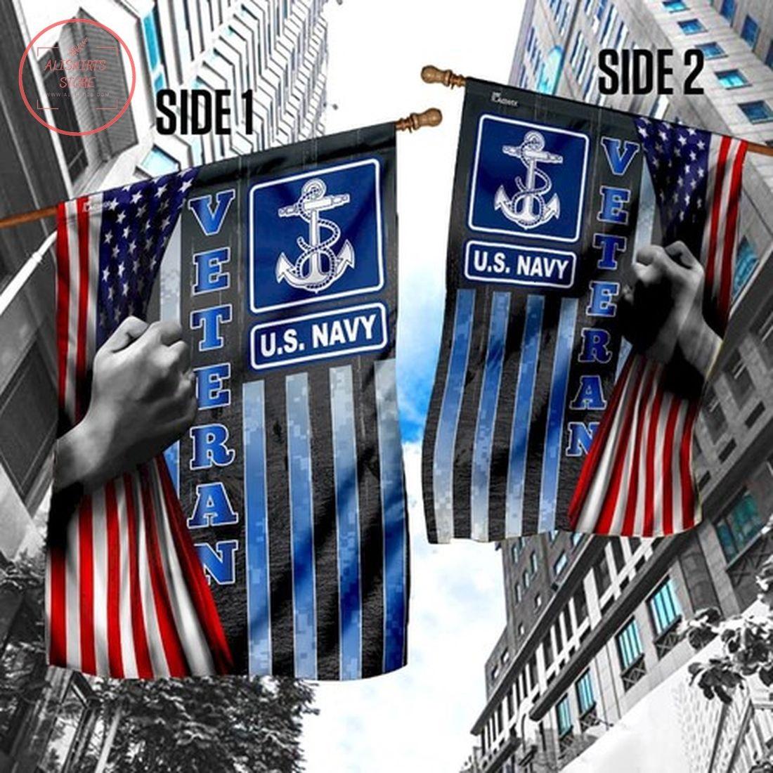 US Navy Veteran Flag Garden Flag