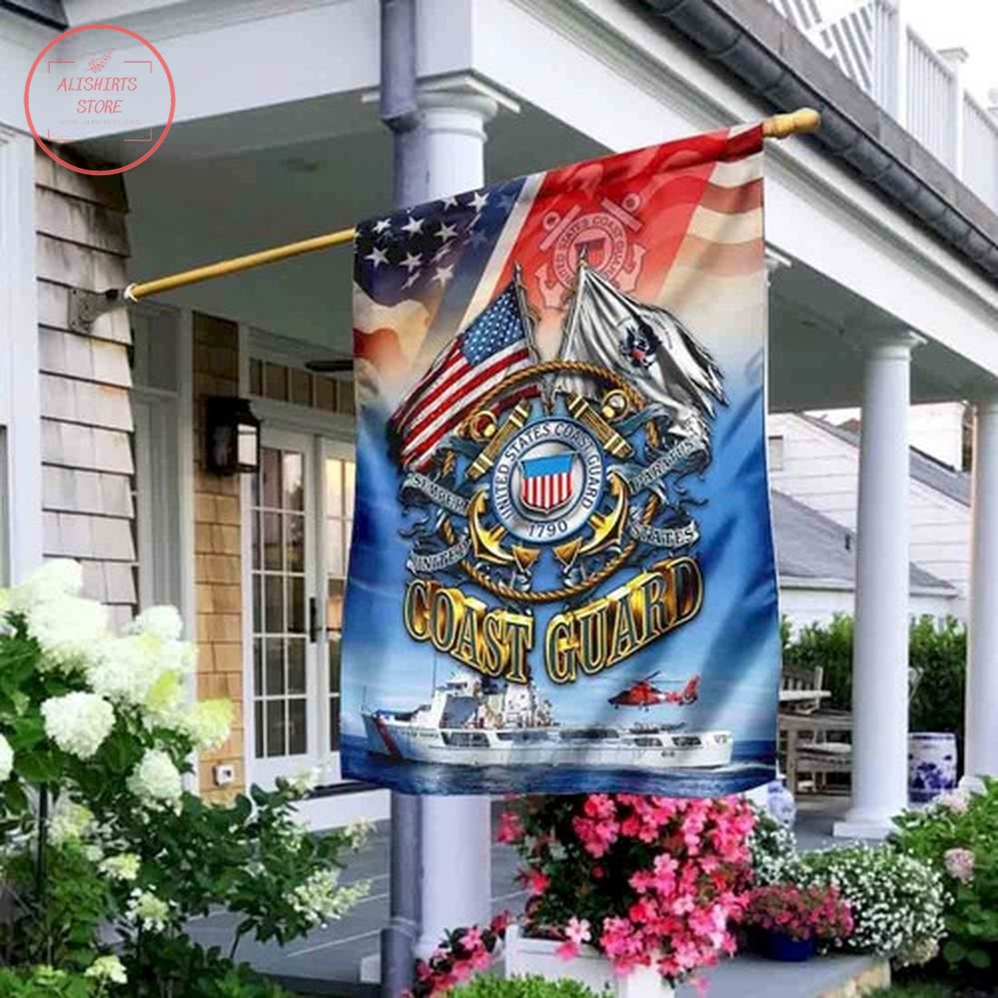 United States Coast Guard Flag Garden Flag