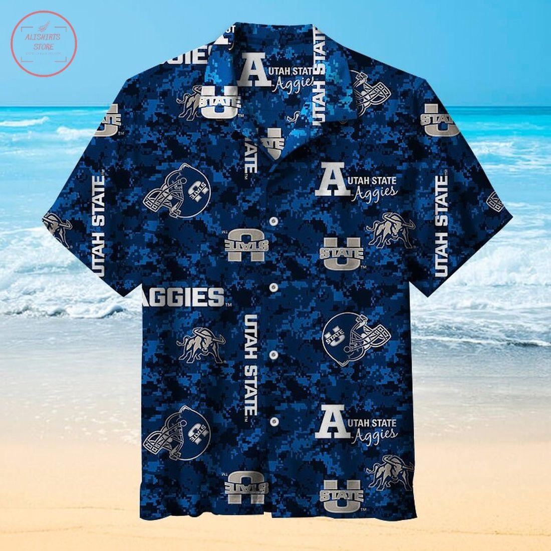 Utah State University football Hawaiian Shirt