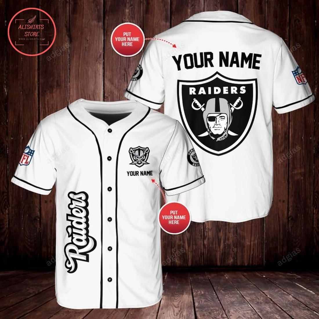 Personalized Las Vegas Raiders baseball Jersey